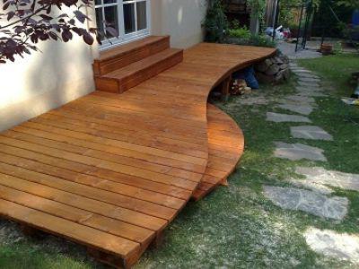 Конструкция деревянной террасы