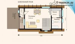 Чертеж проекта дома 82 метра