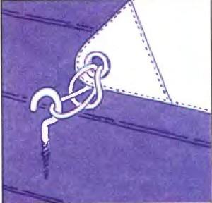 Крепление тента-паруса