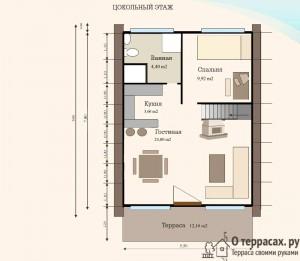 чертеж первого этажа проекта