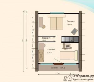 чертеж второго этажа