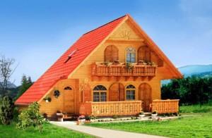Проект дома с террасой вид спереди