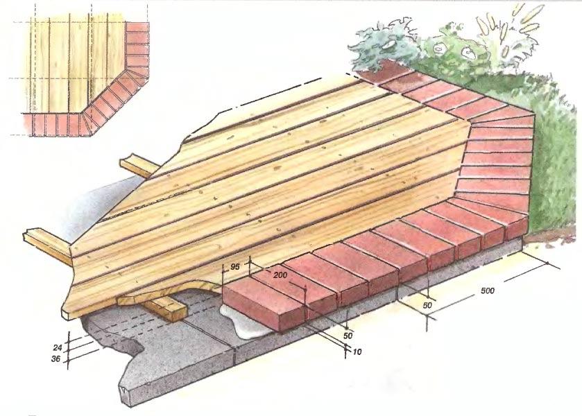 Терраса с деревянным настилом