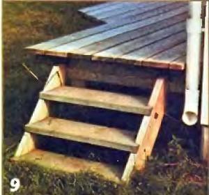 Лестница в конце террасы