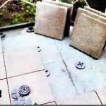 укладка целых каменных плит