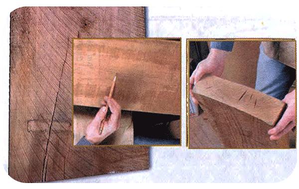 трещины в доске