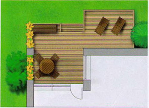 частично крытая терраса