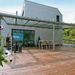 стеклянная крыша террасы