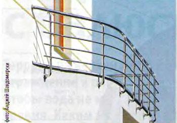 столбики крепятся к нижней стене