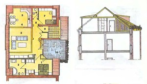 план мансардного этажа с террасой