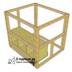 Крепление гнез-коробок в боковой стороне