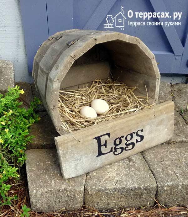 деревянная бочка гнездо