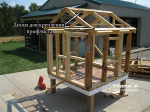 Крыша курятника - подготовка к настилу