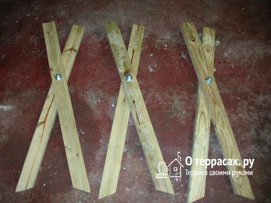 складные ноги козла для дров