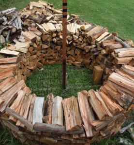 как складывать дрова