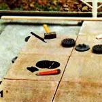 укладывание каменной плитки