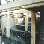 установка столбов на крыльцо