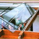 установка стеклянной крыши