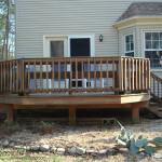 деревянная угловая терраса
