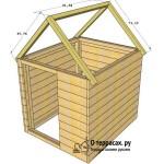 Двускатная крыша курятника чертеж